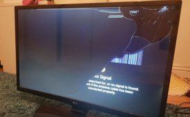 دانلود فایل صدای شکستن تلویزیون